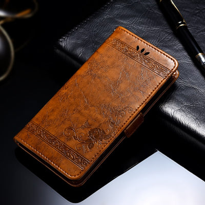 Vintage Flower Camouflage Case For Huawei P Smart 2019 PU Leather Wallet Flip Cover Coque Case For Huawei Honor 10 Lite Case