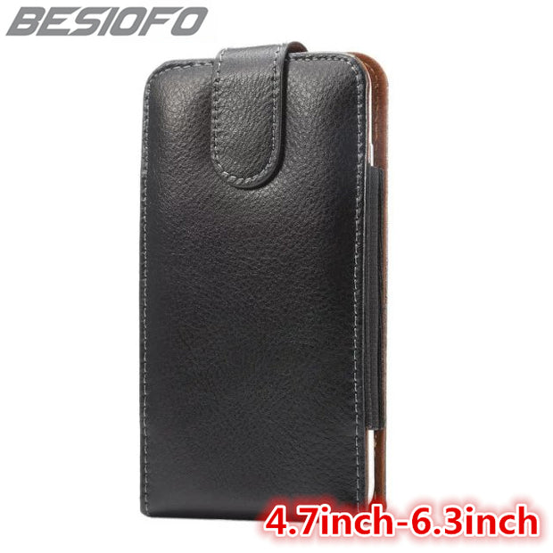 With 360 Degree Rotation Clip Cover Belt Waist Pouch Holster Vertical Phone Case For Samsung Galaxy Note 3 4 5 6 7 Note 8 Note 9