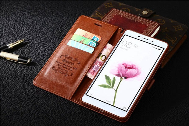 "Xiaomi Mi Max Case Wallet Flip Leather Case Cover For Xiaomi Mi Max 6.44"" Phone Bags Slots Stand Holder Function Shell Cover"