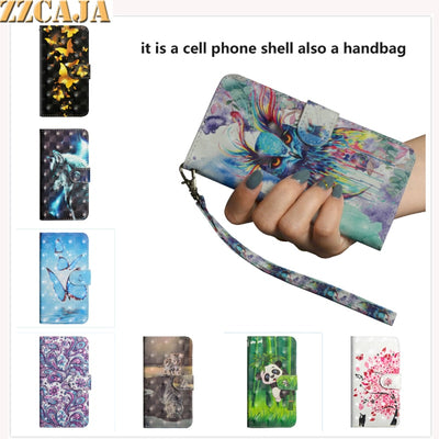 ZZCAJA For Motorola G6 G5s E4 C Plus Case Cute 3D View Luxury Leather Wallet Flip Cover For Moto Z3 E5 Play G5 X4 2017 Fundas