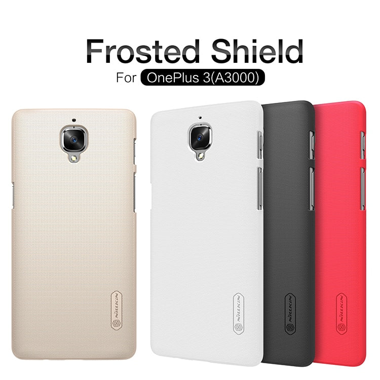 Case For OnePlus 3T NILLKIN Super Frosted Shield Hard Back Cover Case For OnePlus 3T OnePlus 3 5.5 Inch With Screen Protector