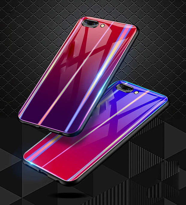 For Huawei Honor 10 Lite Tempered Glass Case Cover Bling Beautiful Colorful Phone Smooth Back Protector Cover For Honor 10 Lite