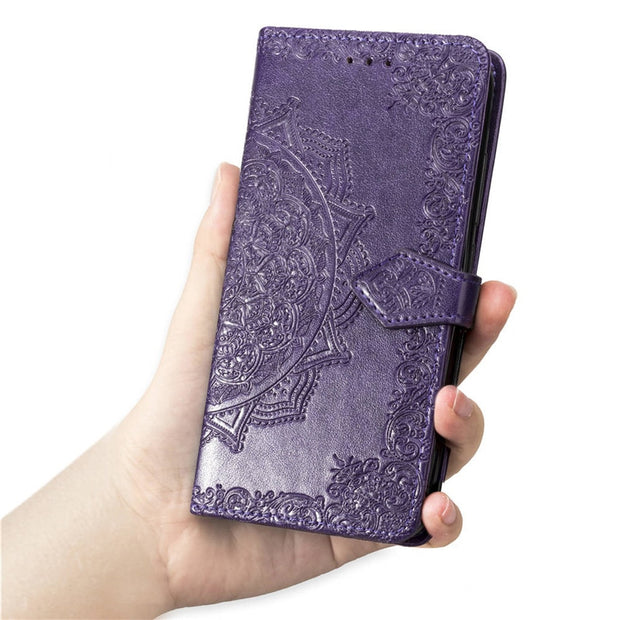For Iphone XR Case Mandala Flower Leather Flip Wallet Case For Iphone XS MAX Case For Iphone X 7 8 6 6S Plus Case Lady Elegant