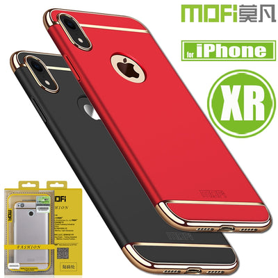 For IPhone XR Cases Mofi Ultra Thin Luxury Hard PC Plastic 3 In 1 Business Smart Phone Bag Back Case For Apple IPhone XR Capa