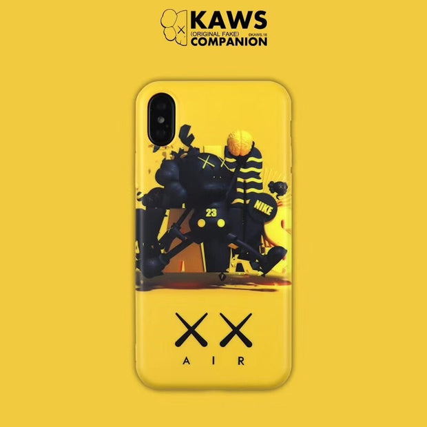 Kaws Air Jordan Case For Iphone X 7 8plus Coque Noctilucan Soft Silicon TPU KAWS Image Back Cover For Iphone 6 6s 7 7plus Case