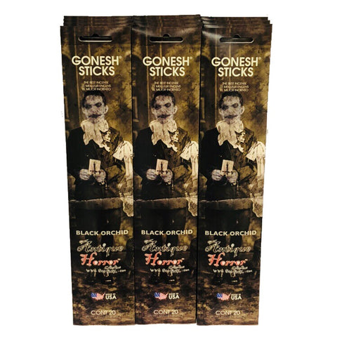 Antique Horror Black Orchid 12 Pack (240 Sticks)  GONESH