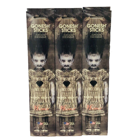 Antique Horror Black Velvet 12 Pack (240 Sticks)  GONESH