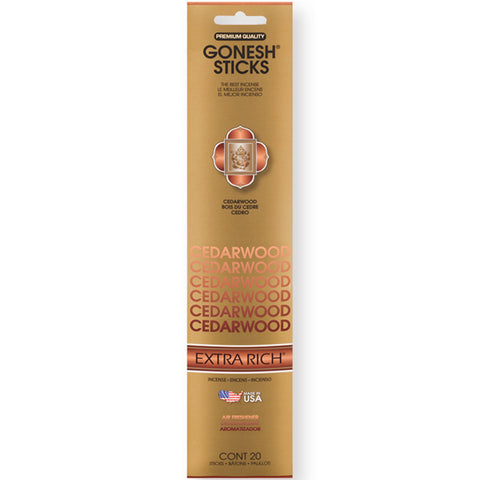 Gonesh Cedarwood Incense 20 Sticks X 12 Pk (240 Sticks)