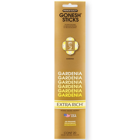 Gonesh Gardenia Incense 20 Sticks X 12 Pk (240 Sticks)