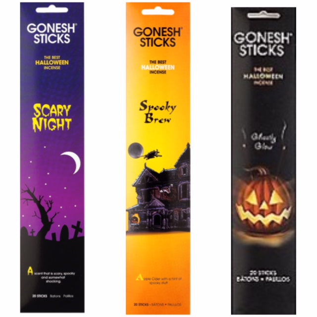 Spooky Halloween Set 12 pack (240 Sticks) Assortment GONESH
