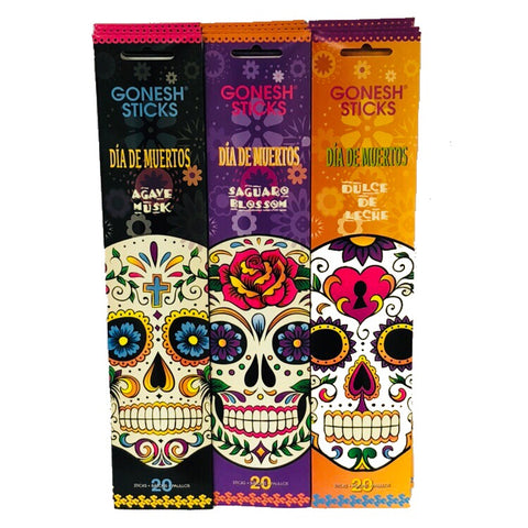 Dia De Muertos Set 12 Pack (240 Sticks) Assortment GONESH