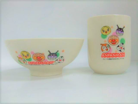 Anpanman bowl & mug set