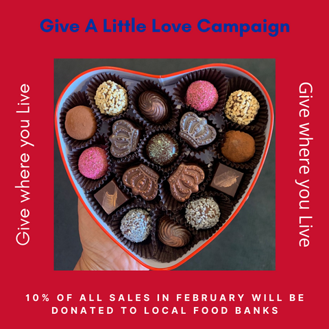 """Give a Little Love"" Red Heart tin with 16 Truffles"