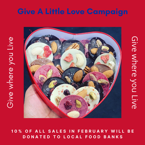 """Give a Little Love"" French Mendiant Red Heart Box"