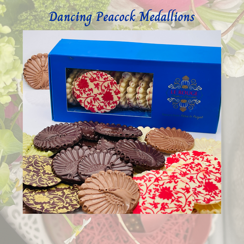 Dancing Peacock Chocolate Medallion
