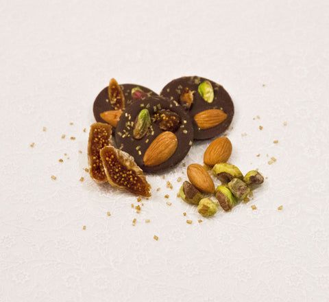 Almond, Fig & Pistachio Mendiants p - Le Rouge - Handmade Chocolates By Aarti - 1