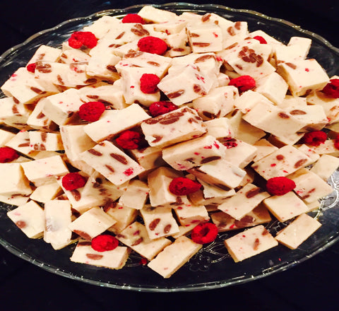White Chocolate Raspberry Fudge - Le Rouge - Handmade Chocolates By Aarti