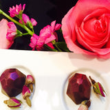 Preserved Rose Petal Truffle - Le Rouge - Handmade Chocolates By Aarti