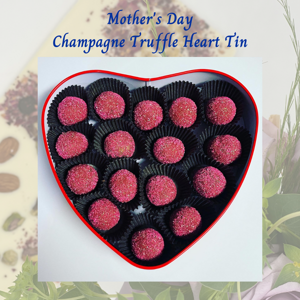 Mother's Day Champagne Truffle Heart Tin