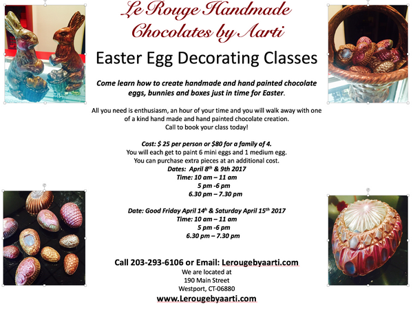Easter Chocolate Egg Decorating Classes
