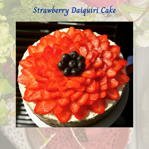 Mother's Day Strawberry Daiquiri Cake