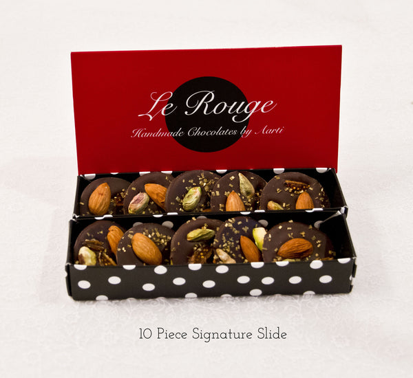 Almond, Fig & Pistachio Mendiants p - Le Rouge - Handmade Chocolates By Aarti - 2