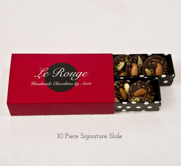Almond, Fig & Pistachio Mendiants p - Le Rouge - Handmade Chocolates By Aarti - 3