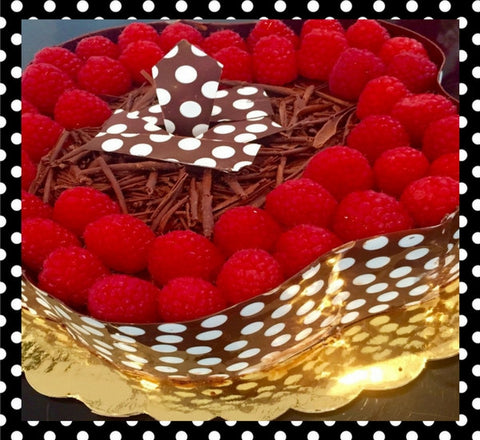 Dark Chocolate & Raspberry Mousse Cake