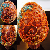 Limited Edition Brocade Easter Egg 2016 - Le Rouge - Handmade Chocolates By Aarti - 1