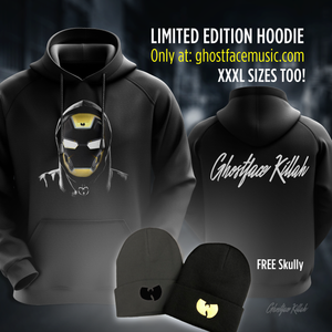 Ghostface Killah Limited Edition Must Have HOODIE & FREE Wu Skully