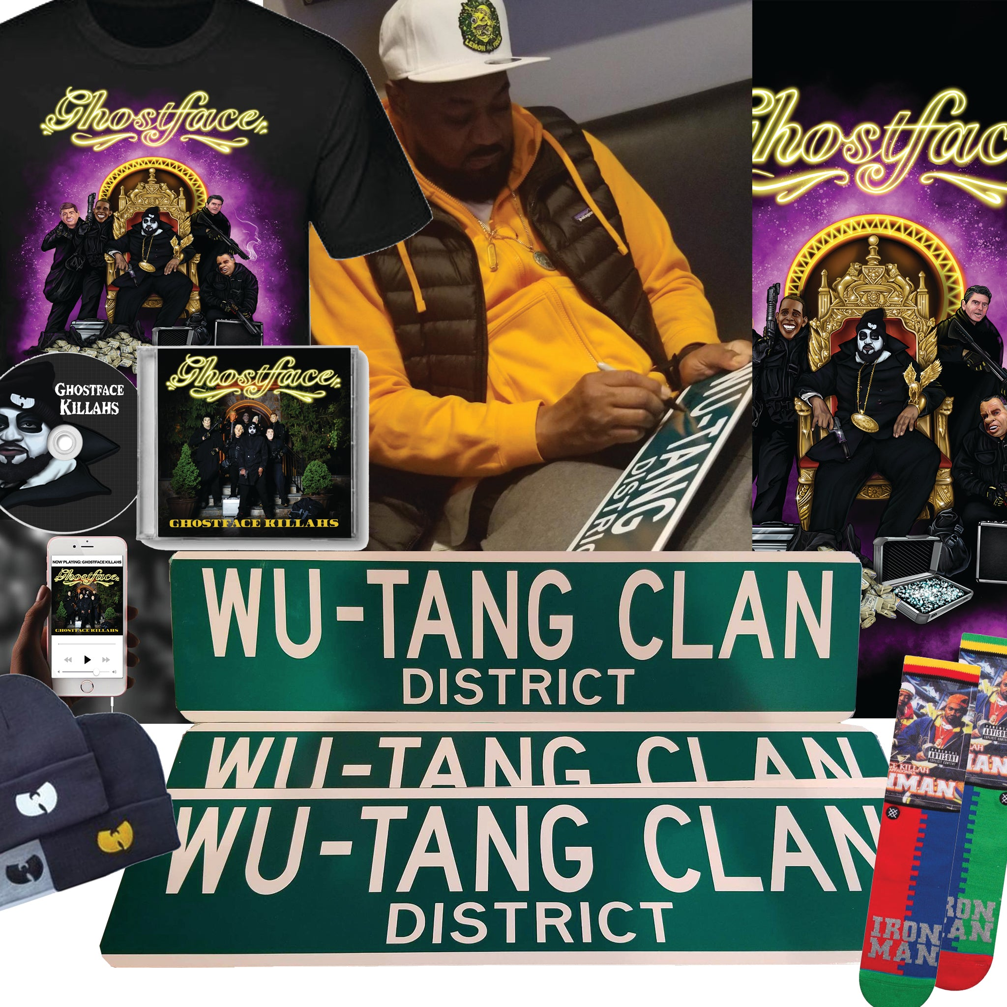 KILLAH AUTOGRAPHED STREET SIGN BUNDLE