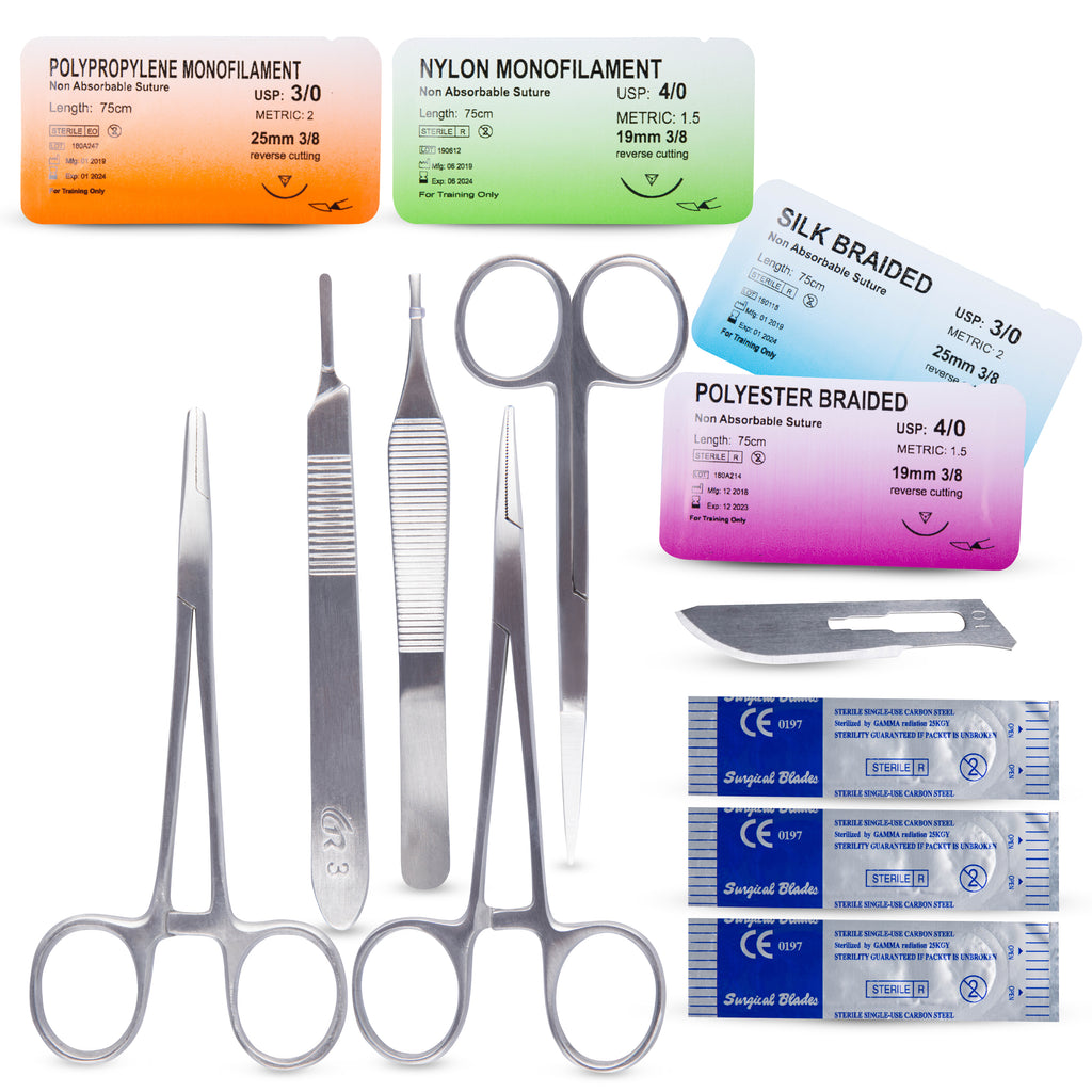 Suture Practice Tool Kit With Training Guide (Suture Pad Not Included)