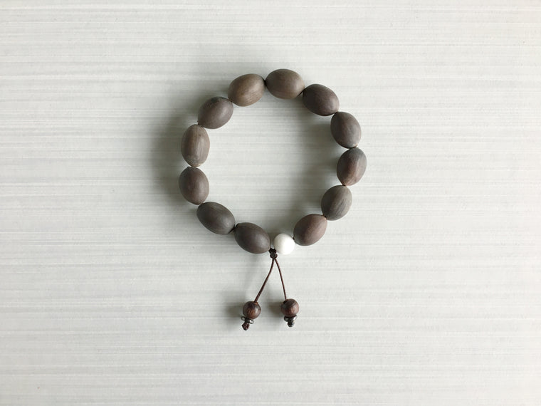 Indian Lotus Seed Meditation Beads with Indian Rosewood