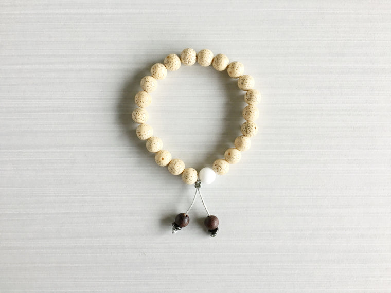Chinese Lotus Seed Meditation Beads with Indian Rosewood