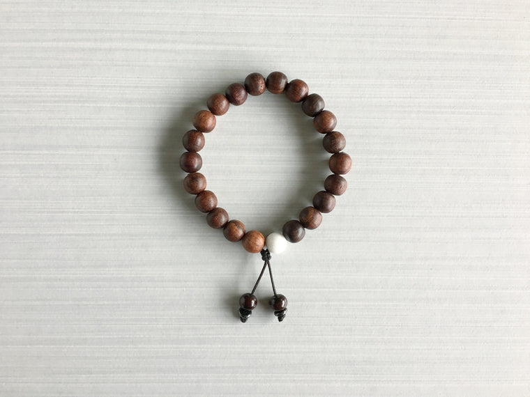 Indian Rosewood Meditation Beads with Nepali Rosewood