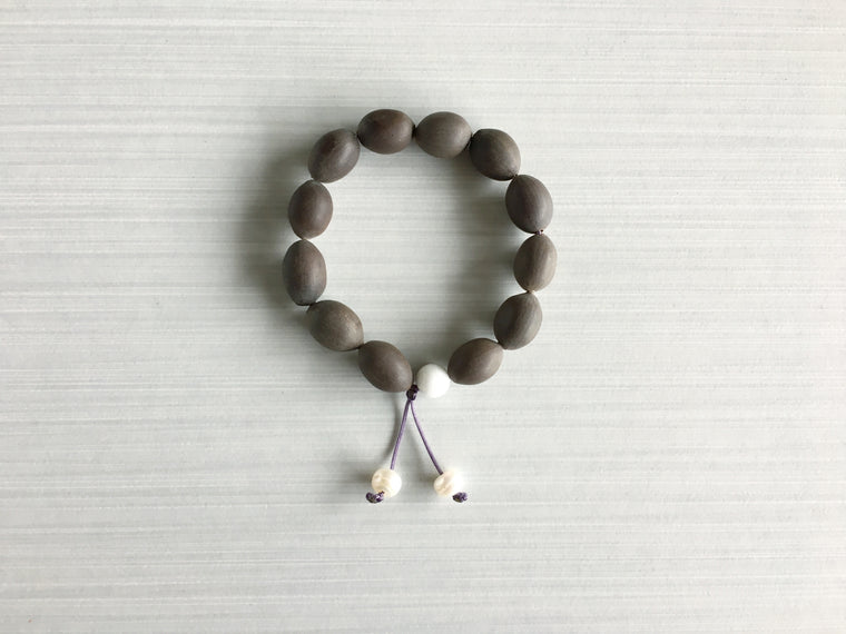 Indian Lotus Seed Meditation Beads with Pearl
