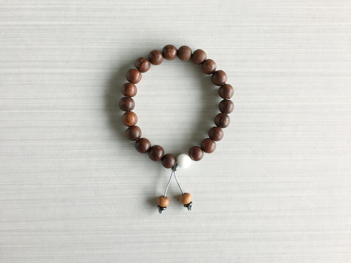 Indian Rosewood Meditation Beads with Sandalwood