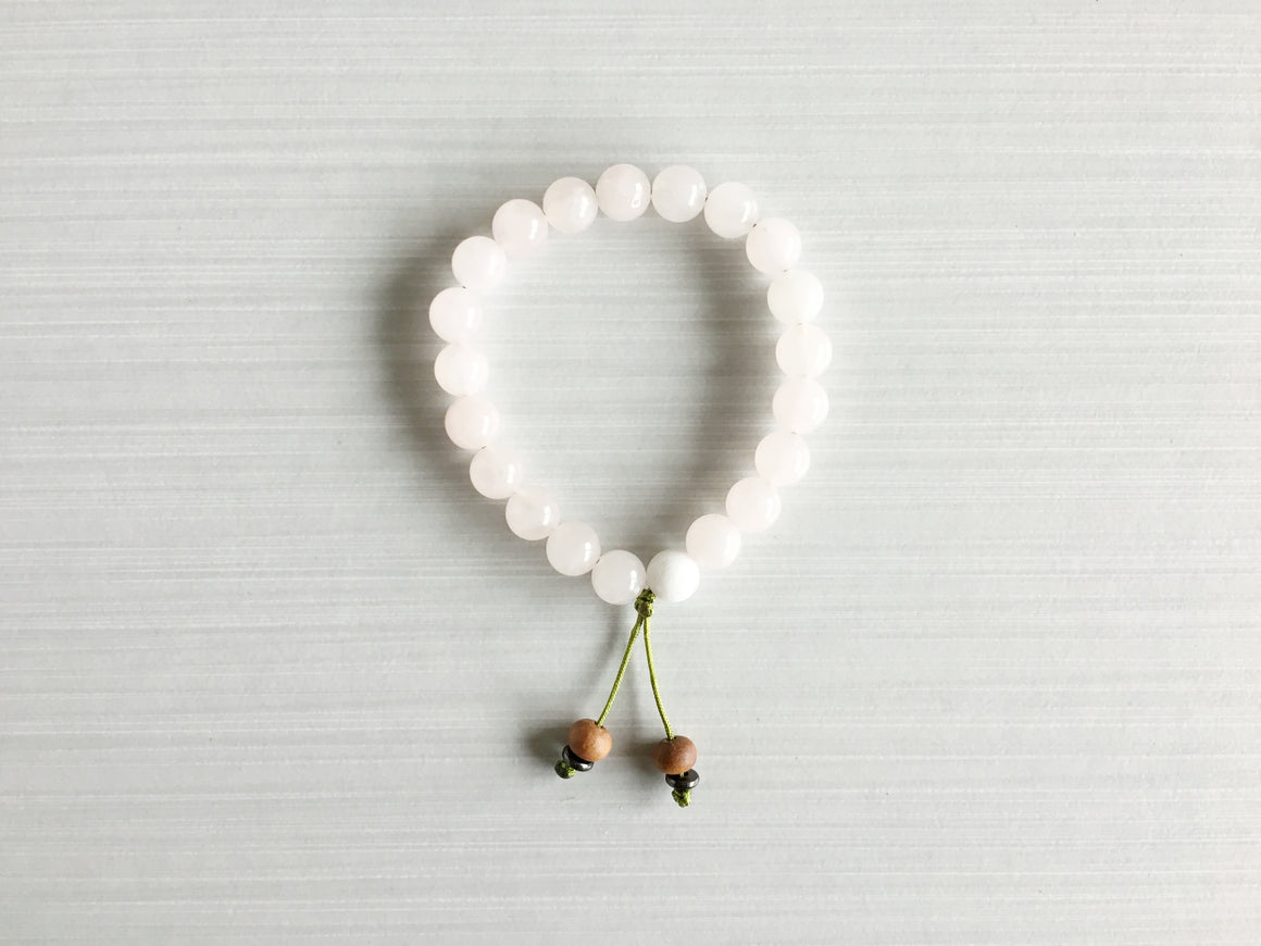 Rose Quartz Meditation Beads with Sandalwood