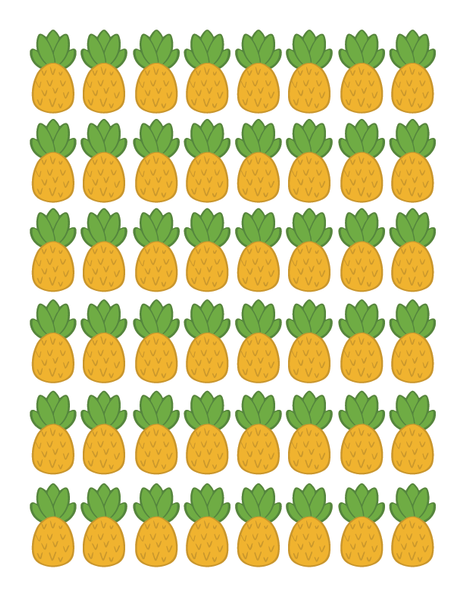 Large & Small Pineapple Royal Icing Transfer Sheet