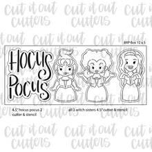 Load image into Gallery viewer, Wicked Sisters 12 x 5 Cookie Cutter Set