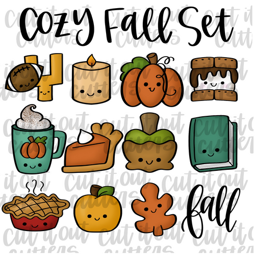 Cozy Fall Cookie Cutter Set