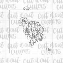 Load image into Gallery viewer, Matching Stencils for the Worded Mom Face Cookie Cutter