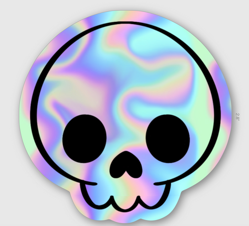 Skull Sticker - HOLOGRAPHIC