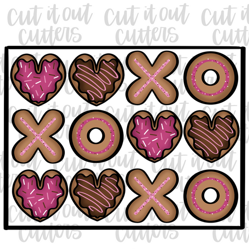 Valentine Donut Platter Cookie Cutter Set