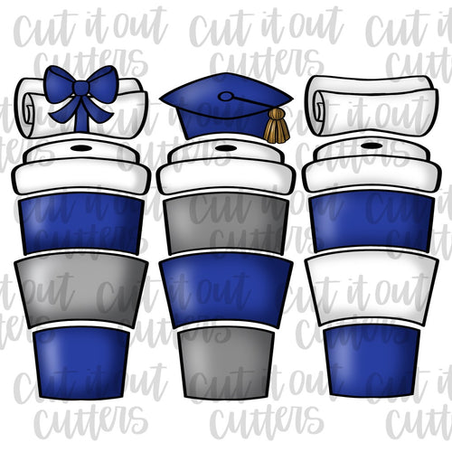 Graduation Toppers for the Build A Brew Cookie Cutter Set