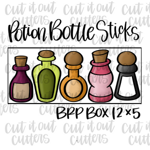 Potion Bottles 12 x 5 Cookie Cutter Set