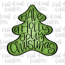 Load image into Gallery viewer, Worded Christmas Tree Cookie Cutter