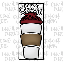 Load image into Gallery viewer, Cozy Season Toppers for the Build A Brew Cookie Cutter Set