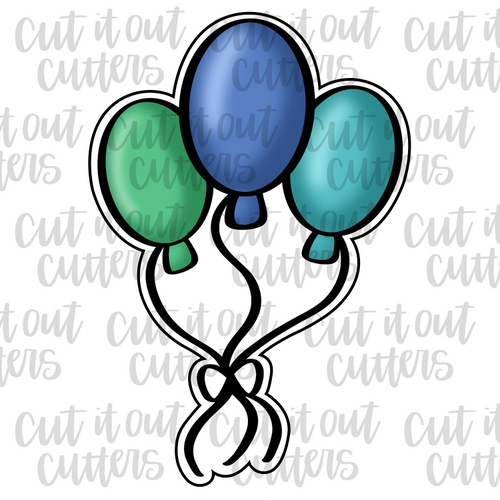 Balloon Bunch Cookie Cutter