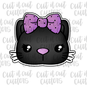 Black Cat with Bow Cookie Cutter